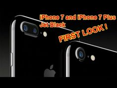 iPhone 7 and iPhone 7 Plus Jet Black First Look! On Wednesday, Apple introduced the iPhone It's the first time an iPhone is being offered in two black col. Iphone 7 Plus, Jet, Black, Black People
