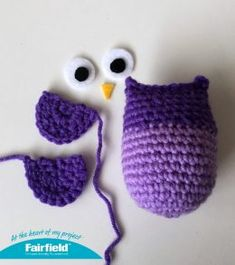 Colorful Crocheted Owl Ornaments - Fairfield World Craft Projects