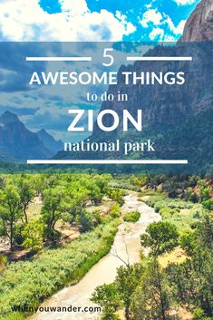 5 Awesome Things to Do in Zion National Park Zion National Park in Southern Utah is one of the most vivid and stunning parks. Here are 5 awesome things you must do in Zion National Park. Most Visited National Parks, National Parks Usa, Camping Places, Camping And Hiking, Utah Camping, Hiking Trips, Camping Guide, Camping Survival, Utah Vacation