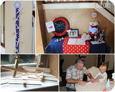 Airplanes & Clouds Birthday Party Ideas | Photo 1 of 40 | Catch My Party