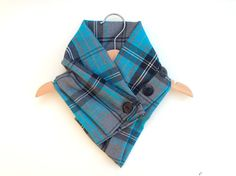 Baby scarf, toddler scarf, bandana scarf blue and grey plaid, childrens neckwarmer, winter clothes, kids plaid scarf on Etsy, $20.23