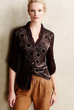 Leighton Velvet Buttondown