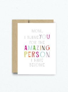 Funny Mother's Day card from Print Smitten