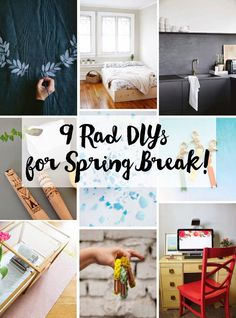 Poppytalk: 9 Rad DIYs for Spring Break!