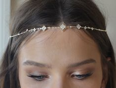 Excited to share the latest addition to my #etsy shop: Boho Bridal Headband, wedding hair accessories, bride Headband, Boho Head Piece, gold rhinestone forehead , brides headpiece https://etsy.me/2rDlqHZ #weddings #accessories #bohobridalheadband #bohoheadpiece #weddin