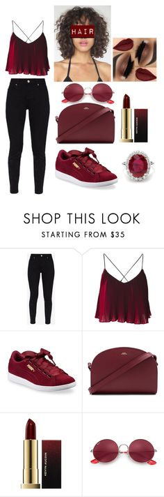 """""""F***** Up"""" by prxncessjay on Polyvore featuring Ted Baker, Puma, A.P.C., Kevyn Aucoin and Ray-Ban"""