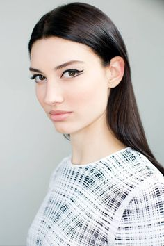 Backstage beauty report from Dior's Resort 2015 show. How-to get the beauty look step-by-step here.