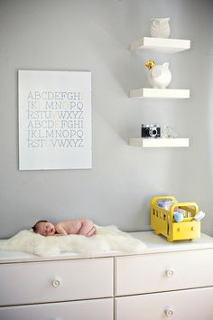 I think whoever made this nursery is my twin!! Newborn Photography Session with Baby Jude