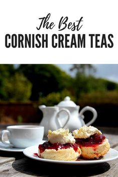 Best cream teas in West Cornwall. What better way to reward yourself after a long walk along the coast than digging into a delicious Cornish cream tea! St Ives Cornwall, West Cornwall, Cornwall England, Yorkshire England, Cornwall Cottages, Yorkshire Dales, Cornish Cream Tea, Cornwall Garden, Things To Do In Cornwall