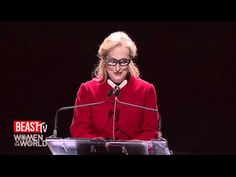 Women in the World 2012: Meryl Streep's Tribute to Hillary Clinton    Never, never, give up.