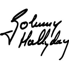 Sticker-Autocollant-SIGNATURE-JOHNNY-HALLYDAY-Vinyl-brillant-couleur-au-choix