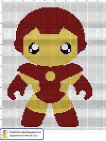 Punto De Cruz: Super Heroe IronMan