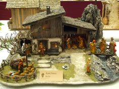 Click to Close Nativity House, Nativity Stable, Christmas Nativity, Christmas Crafts, Christmas Decorations, Village House Design, Village Houses, Crib Decoration, Christmas Village Sets