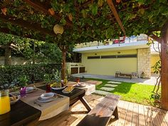 Rethymno villa rental - BBQ facilities and an outdoor dining area are available for your homemade meals!