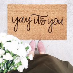 Ideas front door styles welcome mats for 2019 Welcome Mats, Welcome Home, First Home, Cozy House, Home Decor Inspiration, Decor Ideas, Craft Ideas, My Dream Home, Beautiful Homes