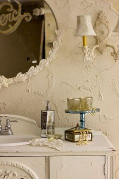 Colors cream and white and wall plaster