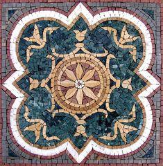 Create a chic and colorful stone tile backsplash or stylish decorative tile accent with the Nalini geometric mosaic. Marble Mosaic, Stone Mosaic, Mosaic Wall, Stone Tiles, Mosaic Glass, Mosaic Tiles, Mosaic Walkway, Wall Tile, Mosaic Crafts