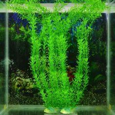 Aquarium Fish Tank Landscaping Animal Plant Plastic Ornament Water Decoration