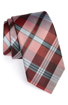 Michael Kors Woven Silk Tie at Nordstrom.com. Modern plaid defines a sharp tie cut from pure silk. Pantone Color of the Year 2015 Marsala