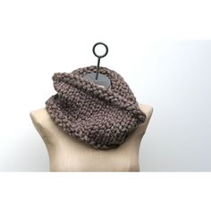The Cobblestone Cowl Bulky Hand Knit Wool Blend Neck Warmer Infinity ...