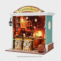 DIY Doll House Furniture Handmade Wooden Mini House Miniature Captain Bar with Furniture Cover for Adult or Kids Novelty Gift  Check It Out Now     $38.95     Feature:  100% brand new and high quality   It's good for home decoration, make your table, showcase or bedroom mo ..  http://www.handmadeaccessories.top/2017/04/02/diy-doll-house-furniture-handmade-wooden-mini-house-miniature-captain-bar-with-furniture-cover-for-adult-or-kids-novelty-gift/