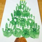 Hand print Christmas Tree {Christmas Activities for Kids}