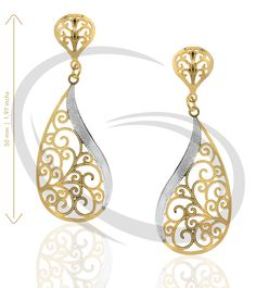 Earring Gold Layered 2 Colors - Gold Primus Ref GIS-2431-2C