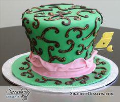Mad Hatter Hat Cake / Alice in Wonderland Theme / Mad Hatter Birthday Cake