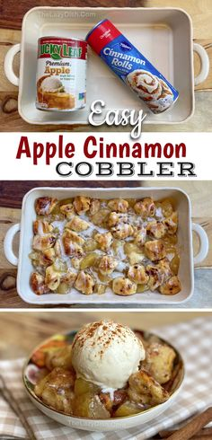 Apple Recipes, Sweet Recipes, Apple Cobbler Recipes, Easy Cobbler Recipe, Quick Easy Desserts, Easy Delicious Desserts, Quick Dessert Recipes, Easy Fall Treats Recipes, Easy Desserts For Thanksgiving