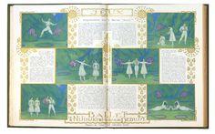 """Impressions sur le ballet """"Jeux"""" - 1913    Jeux, de Vaslav Nijinsky, musique de Claude Debussy, décors et costumes de Léon Bakst"""