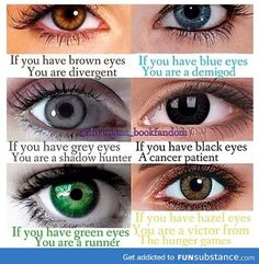 I'm a Victor from the Hunger Games. What r u. Comment on who u r.(By eye color of course)