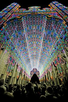 The 55,000 LED Cathedral in Ghent, Belgium http://technabob.com/blog/2012/02/01/led-cathedral-of-lights/