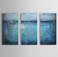3 pieces Large Modern hand-painted Art Oil Painting Wall Decor canvas