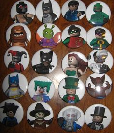20 Pin Back Button Party Favor  Lego Batman by PutOnYourPartyCap, $10.00