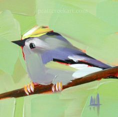 Goldcrest Bird Painting | angela moulton's painting a day