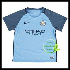 Fotballdrakter Manchester City Barn Hjemmedraktsett 2016-2017 Manchester City, Mens Tops, T Shirt, Image, Women, Fashion, Supreme T Shirt, Moda, Tee Shirt