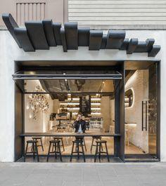 Street food design cafe design, loft design by, coffee shop interior design Design Shop, Loft Design By, Café Design, Shop Front Design, Food Design, Design Ideas, Small Cafe Design, Creative Design, Modern Restaurant