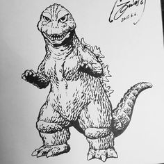 Shinji Nishikawa. Godzilla Tattoo, Tattoo Photography, Classic Horror Movies, Monster Art, Geek Culture, Traditional Tattoo, Blackwork, Sci Fi, Geek Stuff