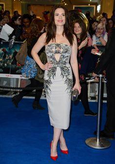 "Hayley Atwell in Julien MacDonald | ""Captain America: The Winter Soldier"" UK Premiere 2014"