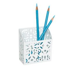 The Container Store > Brocade Magnetic Pencil Bin