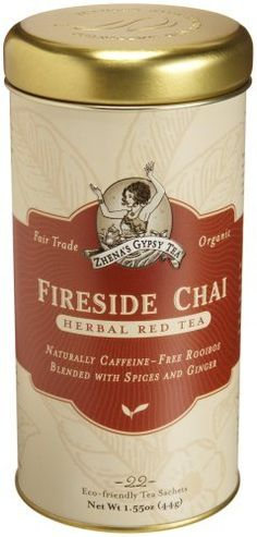 Zhena's Gypsy Tea,Herbal Red Tea Fire Light Chai (previously called Fireside Chai, and previously in much cooler packaging) - delicious!