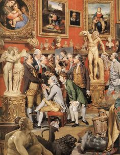 Johan Zoffany,The Tribuna of the Uffizi, 1772–7. Oil on canvas, 123.5 x 155cm. The Royal Collection, Her Majesty Queen Elizabeth II. © 2011 [detail]