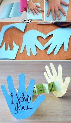 45 Creative Crafts To Make is part of Paper crafts diy kids - kids all want in a creative way by making some cute crafts with their family Crafting with kids will stimulate their creativity and innovation, and… Kids Fathers Day Crafts, Diy Father's Day Crafts, Valentine's Day Crafts For Kids, Valentine Crafts For Kids, Daycare Crafts, Father's Day Diy, Baby Crafts, Toddler Crafts, Creative Crafts