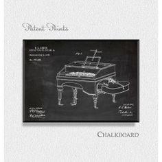 Keyed Violin 1876 Patent Print