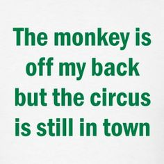 not my monkey not my circus | The monkey is off my back but the ...