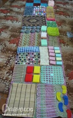 Montessori Nature: DIY Sensory Rugs for Kids for autism, Alzheimer's, SPD, ADHD, pain, dementia
