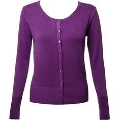 Banned Cardigan (Grape) (86 PEN) ❤ liked on Polyvore featuring tops, cardigans, purple cardigan, summer tops, summer cardigans, purple top and cardigan top