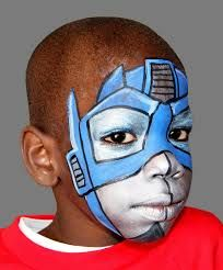 #faceNbodyPaint ▶ transformer face painting