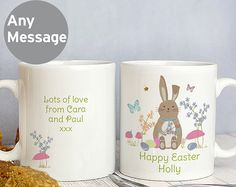 Buy the Personalised Easter Meadow Mug From K Life.