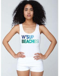 """""""W'sup Beaches"""" Ladies Tank Top by Pamela Fugate Designs with FREE SHIPPING"""